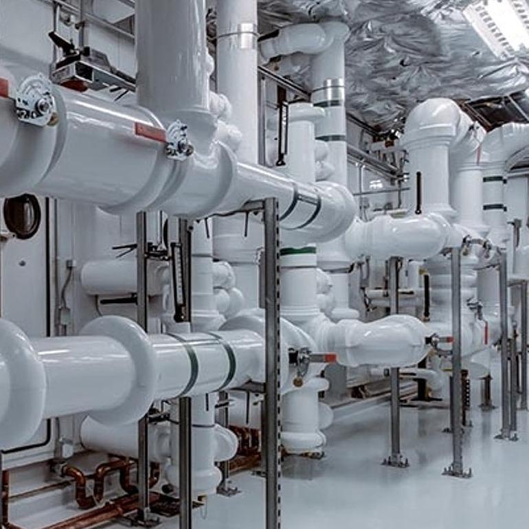 large white plumbing pipes