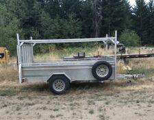 10ft 3500 GVW aluminum utility trailer