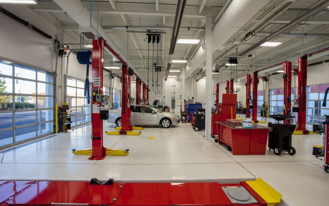 Inside of BCAA auto service building