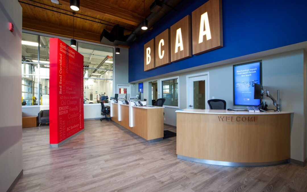 BCAA welcome desk and waiting area