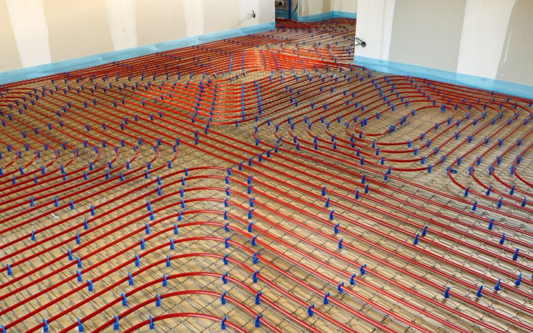 radiant heating pipes in residential home