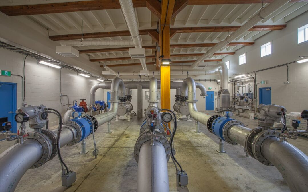 large industrial plumbing pipes